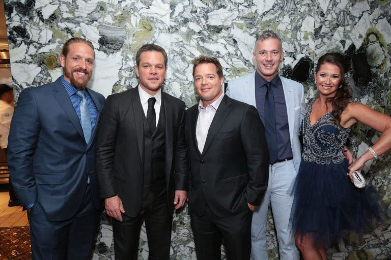 Josh Bezoni and BioTrust team hanging out with Matt Damon