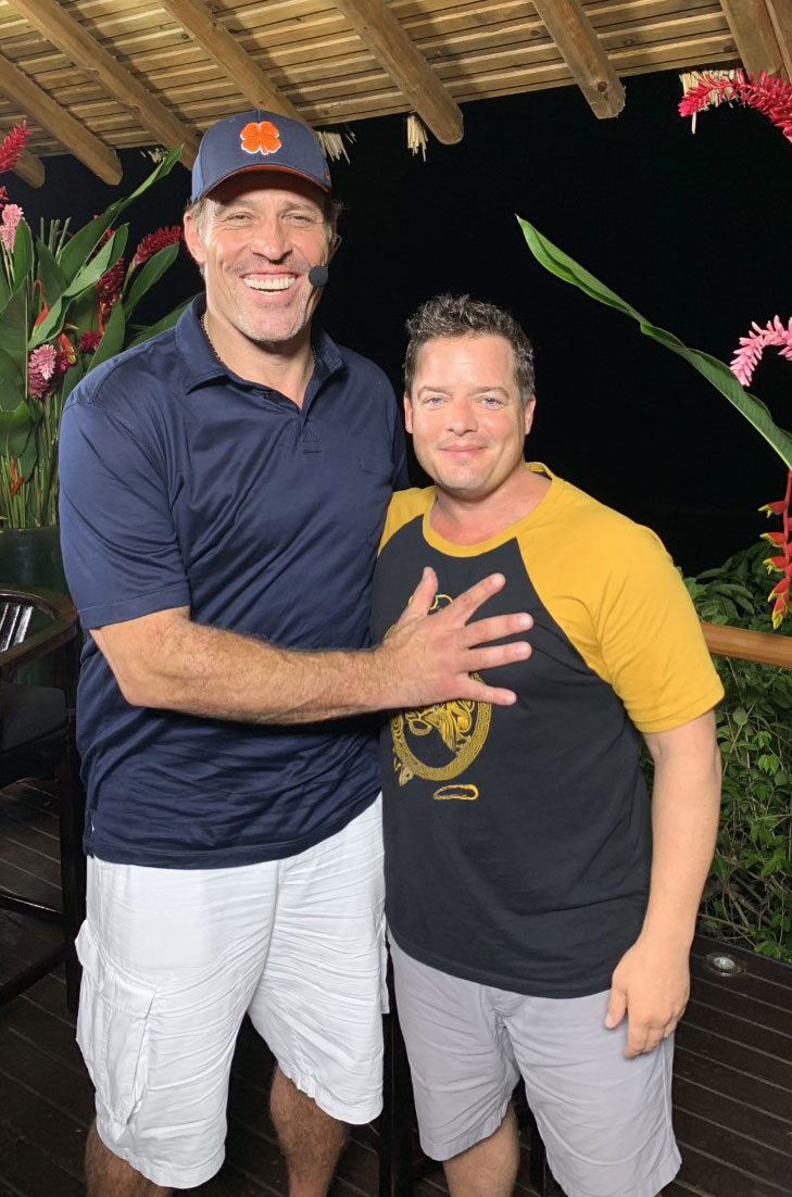 Josh Bezoni and Tony Robbins